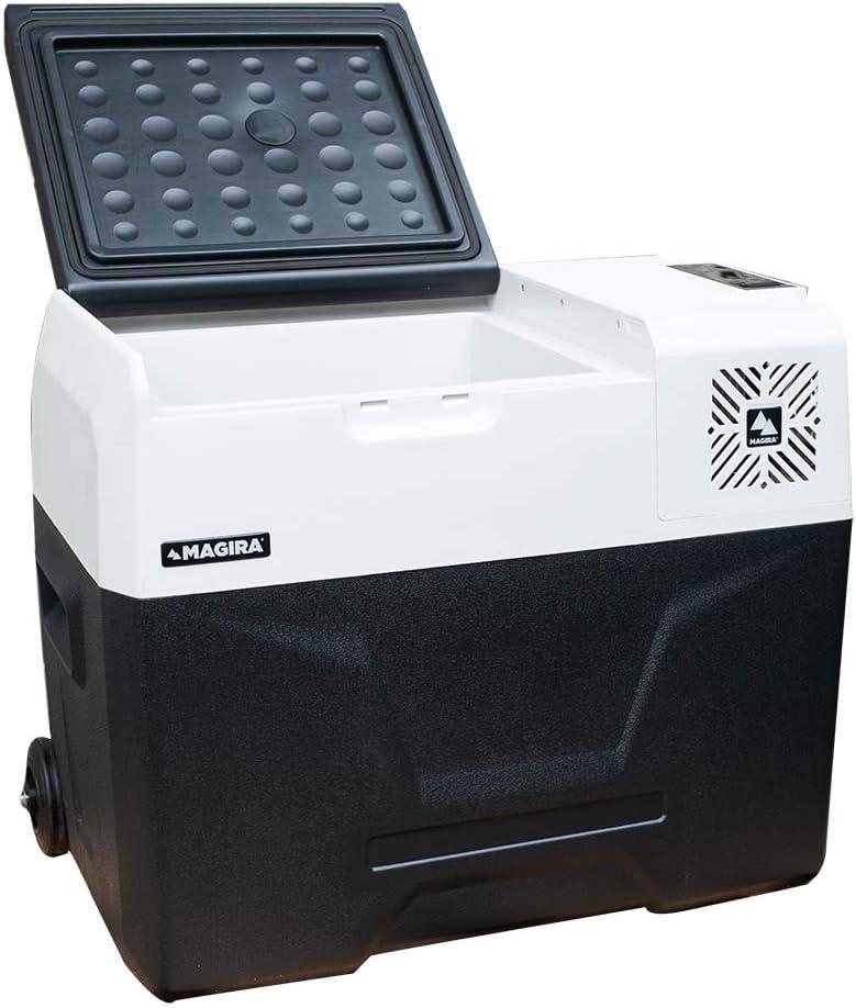 Auto oder LKW mit Steckdose und USB-Anschluss MAGIRA Alaska 40 Liter Kompressor-K/ühlbox 12V und 230V MF40-C elektrischer Mini-K/ühlschrank f/ür Camping