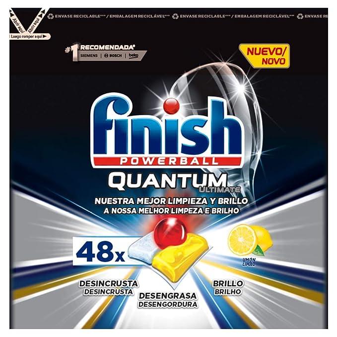 Finish Quantum Ultimate Detergente para Lavavajillas Limón 48 ...