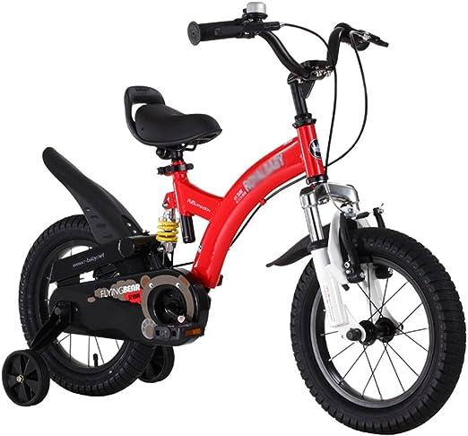 ZHIRONG Bicicleta Para Niños Rosa, Rojo, Amarillo Tamaño 12 ...