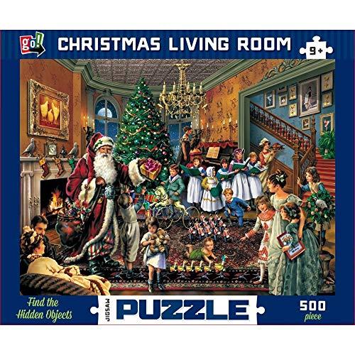 Go! Games Christmas Living Room 500 Piece Puzzle