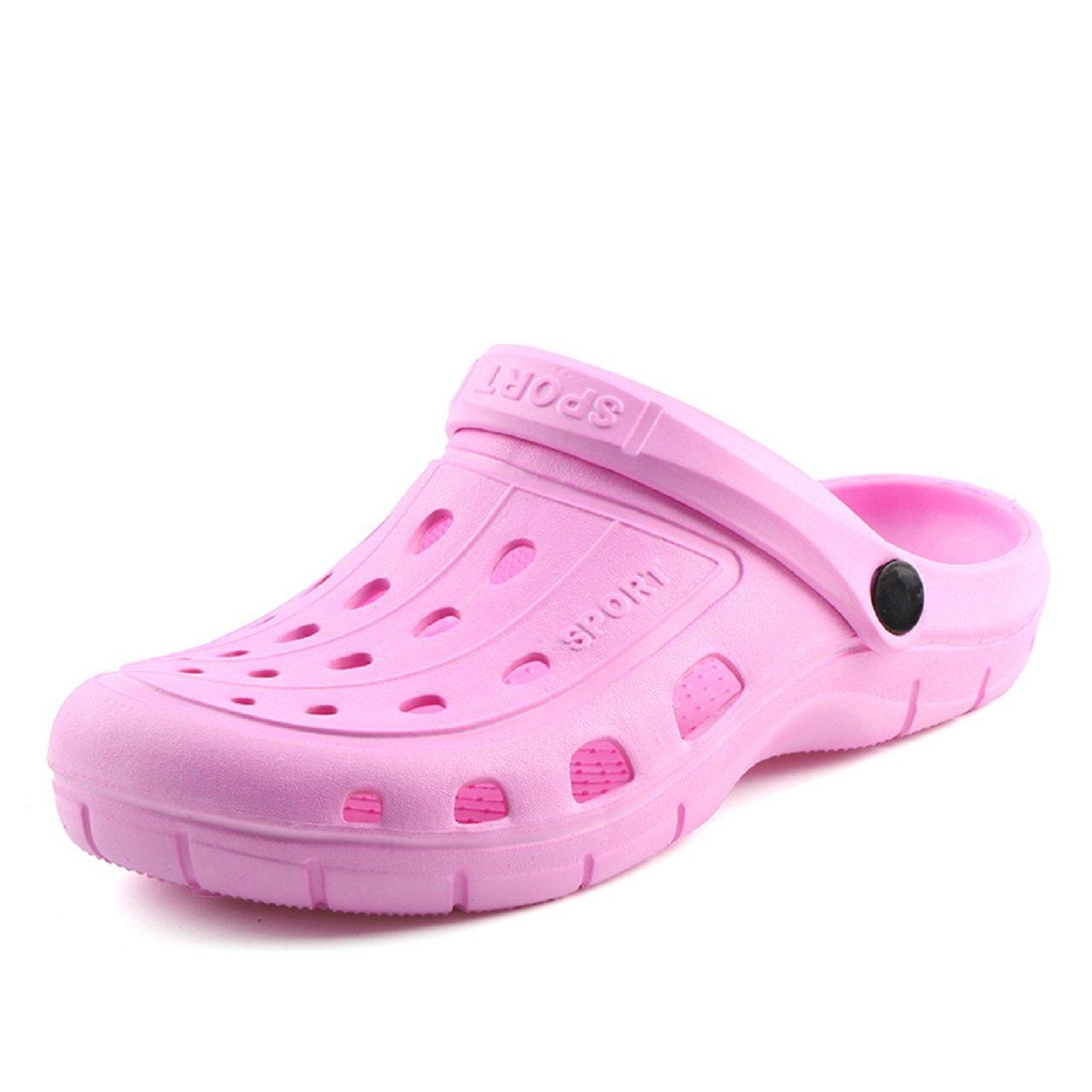 Kurop Women's Garden Shoes Summer Beach Sports EVA Clogs Sandal Slippers (7 US Womens, Pink) 39