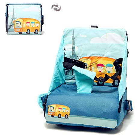 Portable Baby Toddler Infants Dining Chair Booster Seat Soft Harness Safety UK