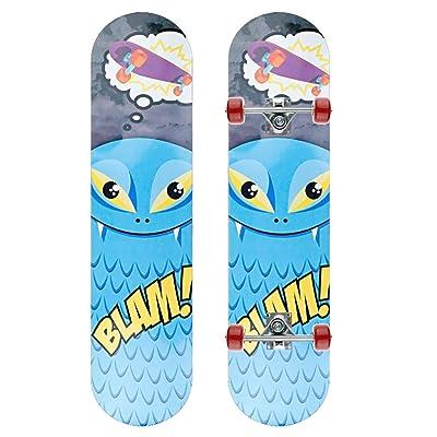 Skateboard Longboard Travel Double Rocker Double-Sided Blue Whale Pattern 802010cm : Sports & Outdoors