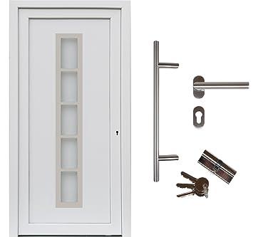 Haustür Weiß kuporta kunststoff haustür merida türen 98 x 190 cm din links weiß