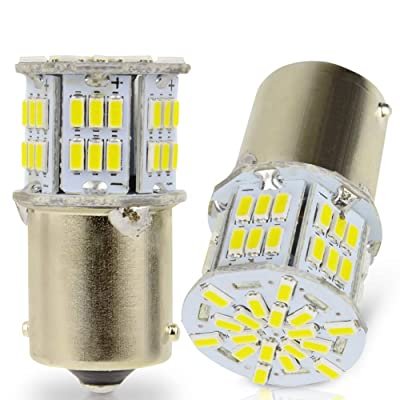 LncBoc 1156 BA15S 54SMD 3014 Chipsets LED Bulbs Super Bright for Car Auto Turn Signal Backup Reverse Lights White Colour 6000K: Automotive