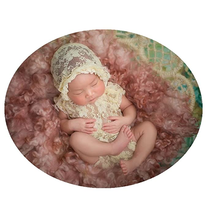 ddc2b2d03 Amazon.com  Fashion Cute Newborn Baby Girls Photography Props Lace ...