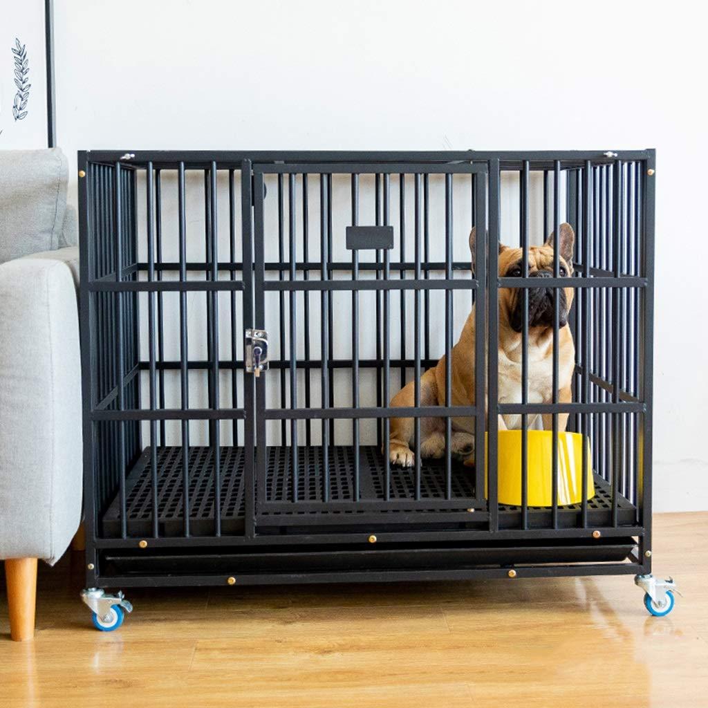 Casetas y cajas para perros Los perros pequeños y medianos de jaula para perros con jaulas para inodoros se pueden apilar con una polea de la caseta de ...