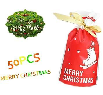 Amazon.com: 50 bolsas con cordón para dulces con bolsa de ...