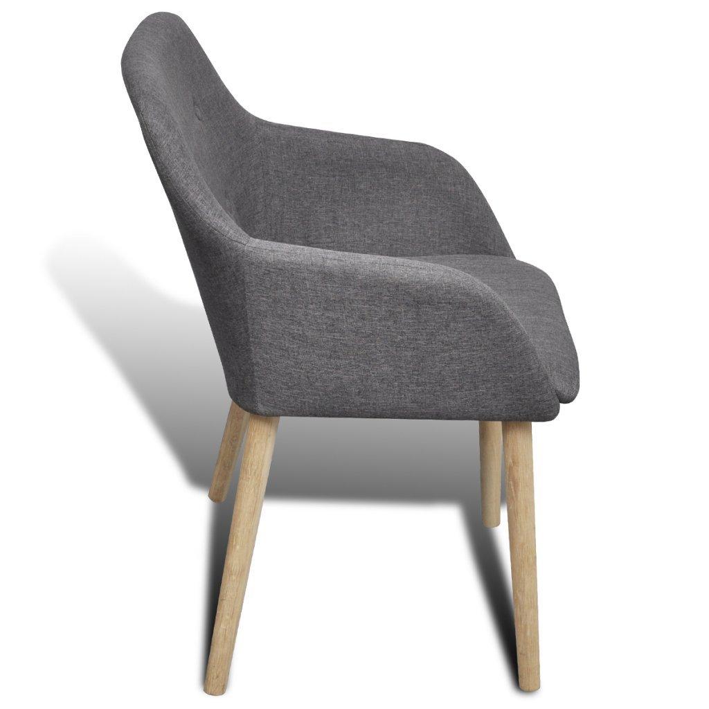 Beautiful Esszimmerstuhl Armlehne #2: VidaXL 6x Stühle Stuhlgruppe Esszimmerstuhl Esszimmerstühle Stuhl Armlehne  Eiche: Amazon.de: Küche U0026 Haushalt