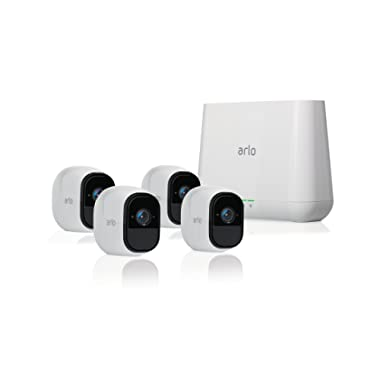 Arlo Pro - Wireless Home Security Camera System   Rechargeable, Night vision, Indoor/Outdoor   4 camera kit (VMS4400)
