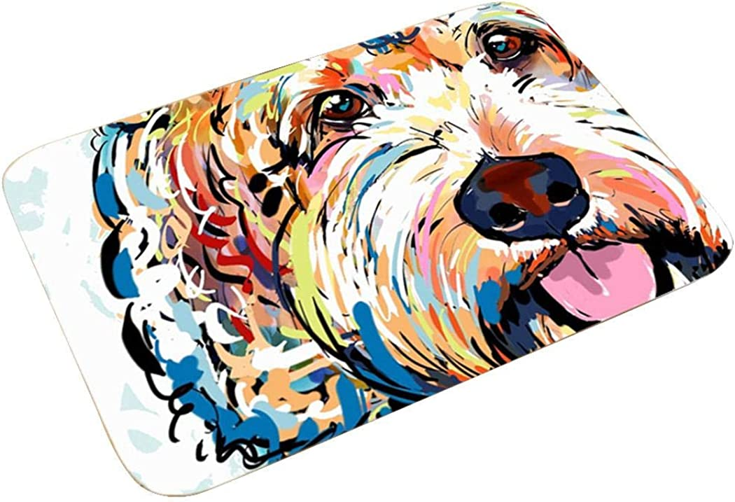 ELOVER Cartoon Dog Doormat Bathroom Floor Area Rug Indoor Entrance Bedroom Kitchen Mat Bath Rugs