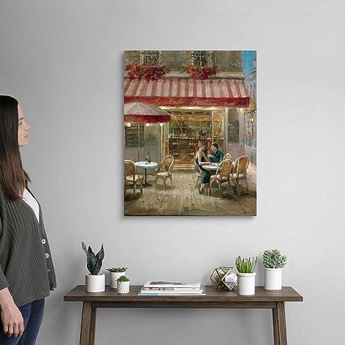 Paris Cafe II Canvas Wall Art Print