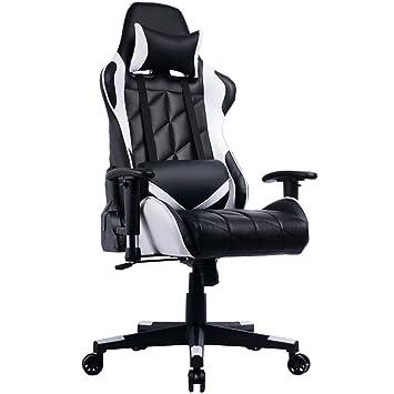 Prime Selection Products Silla de Oficina Gaming; Asiento Gamer con Alto Respaldo Reclinable Racing: Amazon.es: Hogar