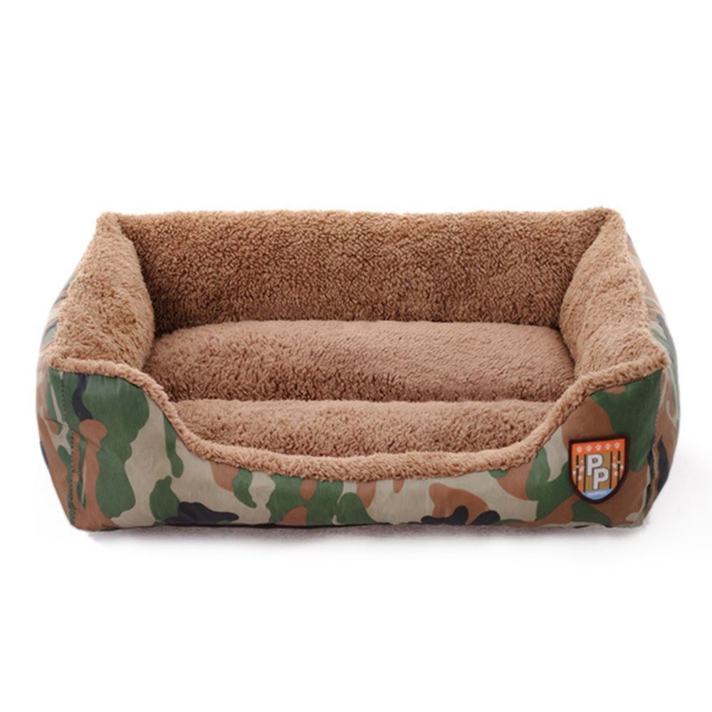 Comfortable Pet Supplies Camouflage Jungle Pet Sofa Bed Cave Cushion Washable Warm Baskets Nest for Puppy Dog Cat(S) Fishinnen