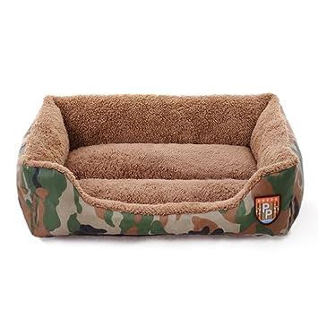 ZHJZ Cómodo Casa para Mascotas Camuflaje Selva Mascota sofá Cama Cueva Cojín Lavable cestas Calientes Nido para Cachorro Gato (s): Amazon.es: Productos para ...