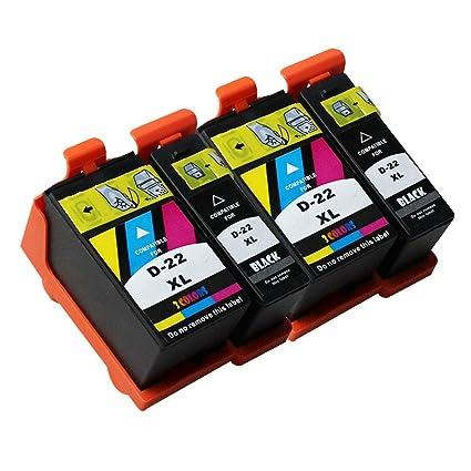 Teng® 4 Cartuchos de Impresora de Alta Capacidad para DELL ...