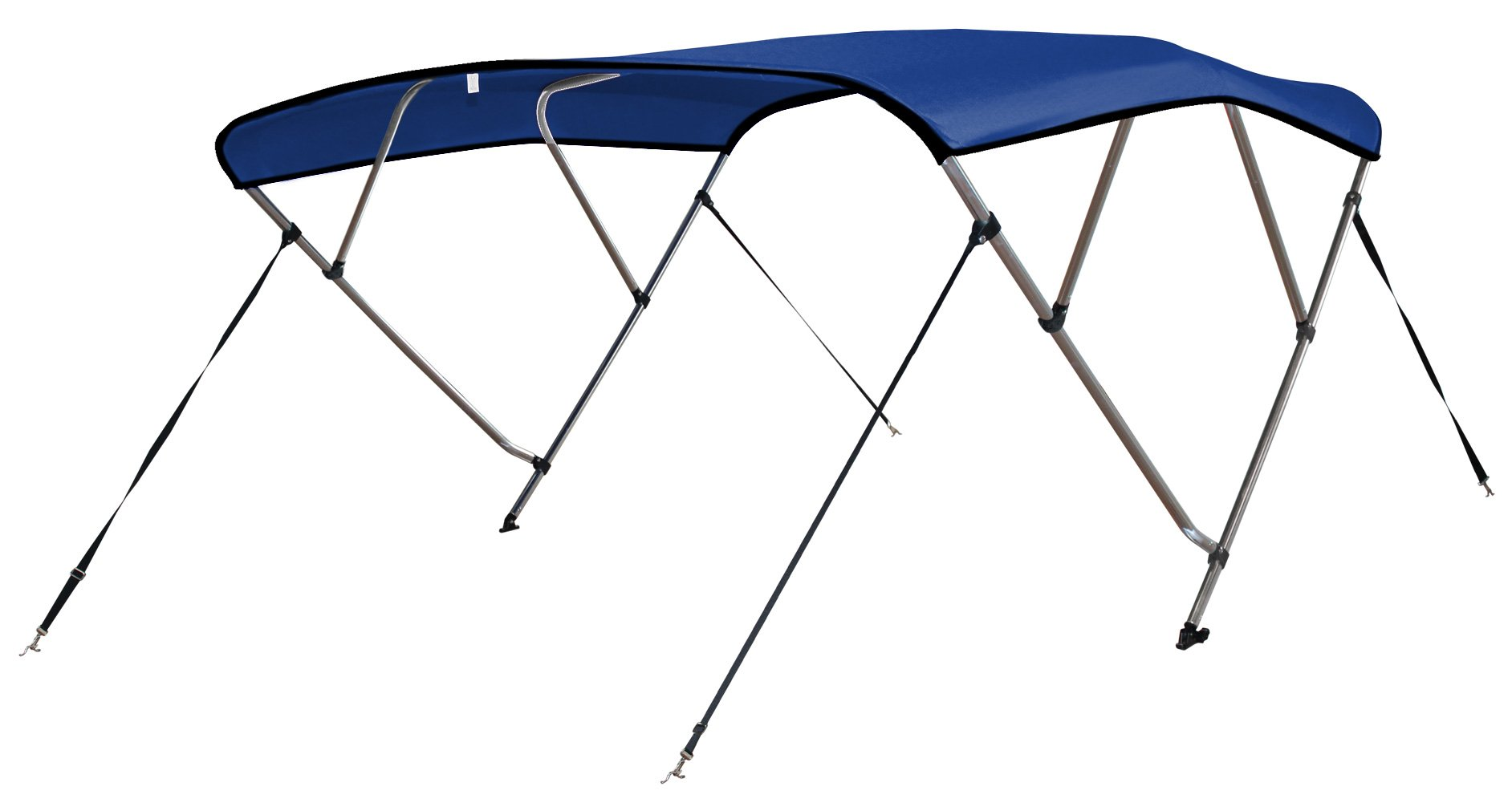 Leader Accessories 4 Bow Pacific Blue 8'L x 54'' H x 73''-78'' W Bimini Tops Boat Cover 4 Straps for Front and Rear Includes Mounting Hardwares with 1 Inch Aluminum Frame by Leader Accessories