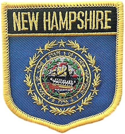 MASSACHUSETTS USA STATE SHIELD FLAG EMBROIDERED IRON-ON PATCH CREST BADGE . NEW