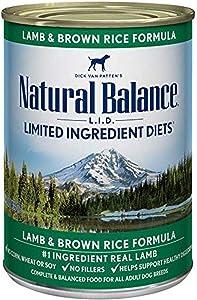 Natural Balance Lamb & Rice Formula Dog Food, 13 Oz, Pack Of 12