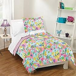 Dream Factory Mermaid Castle Comforter Set, Twin, Pink