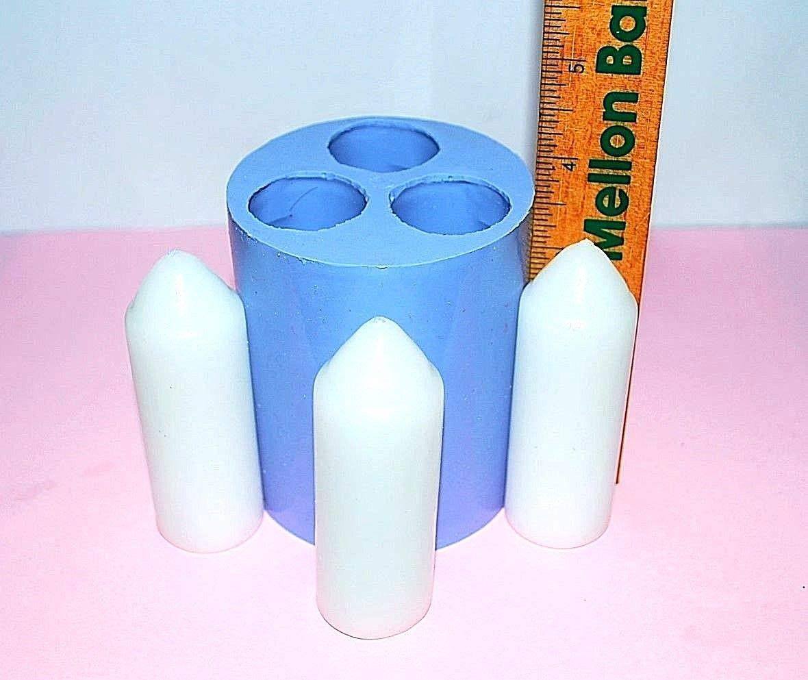 Silicone UCO candle Mold Lantern taper 3 cavities easy release Homemade