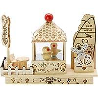 Toyvian Caja de música de Madera Bailando Pájaros Caja de música para niños Niños Regalo de cumpleaños Adornos para el hogar Decoración (Tipo Aleatorio)