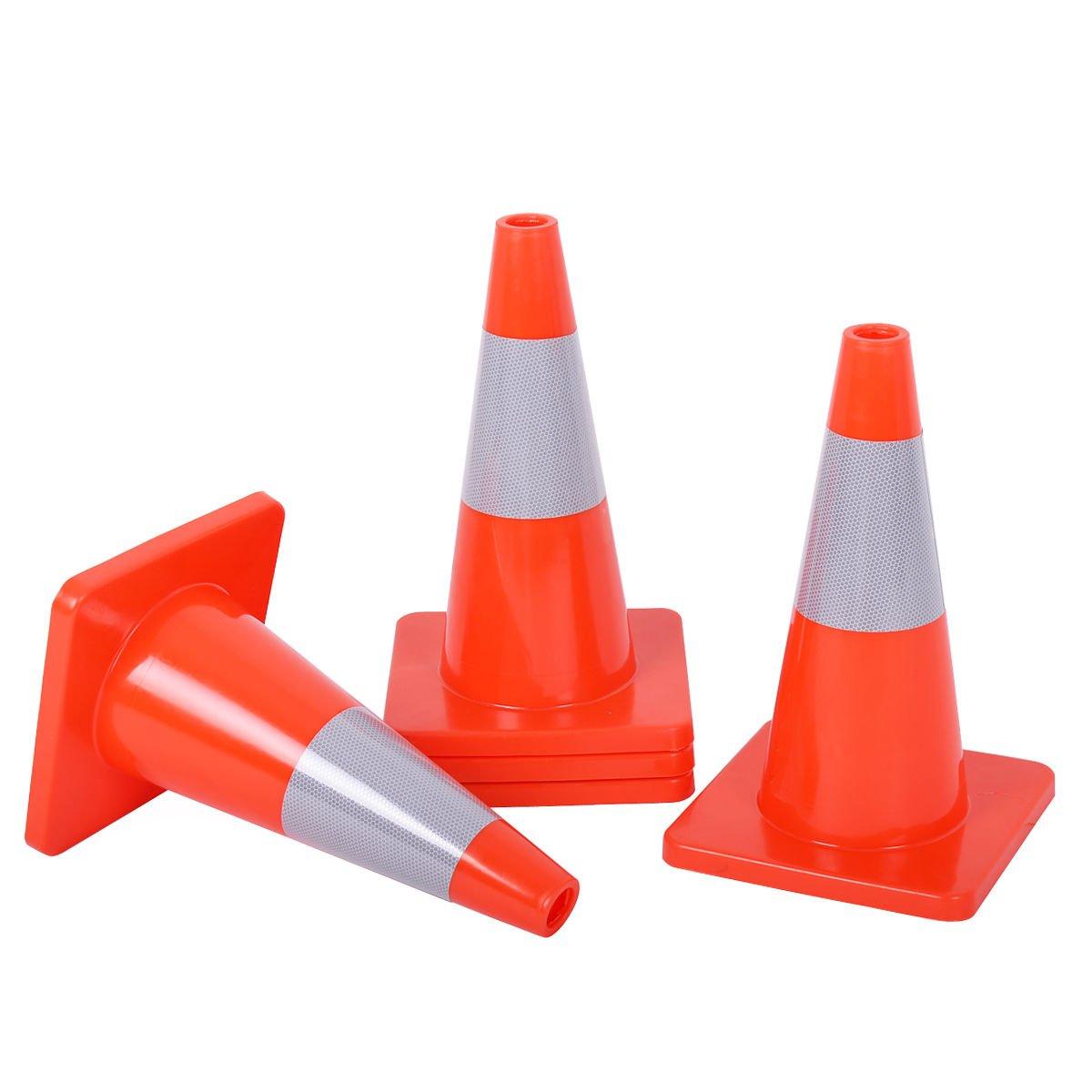 Buy Goplus 5pcs Traffic Cones 18 Orange Slim Fluorescent Reflective