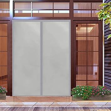 Cortina De Algodón Invierno Ruido Puerta Cortinas Adsorción Magnética Plegable Corredera For Casa Al Aire Libre - Marrón 140x190cm(55x74inch): Amazon.es: Hogar