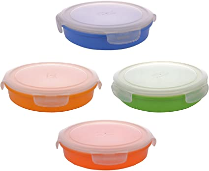 Buy Ektra Melamine Roti Keeper Storage Box with Lid 990 ml Set of