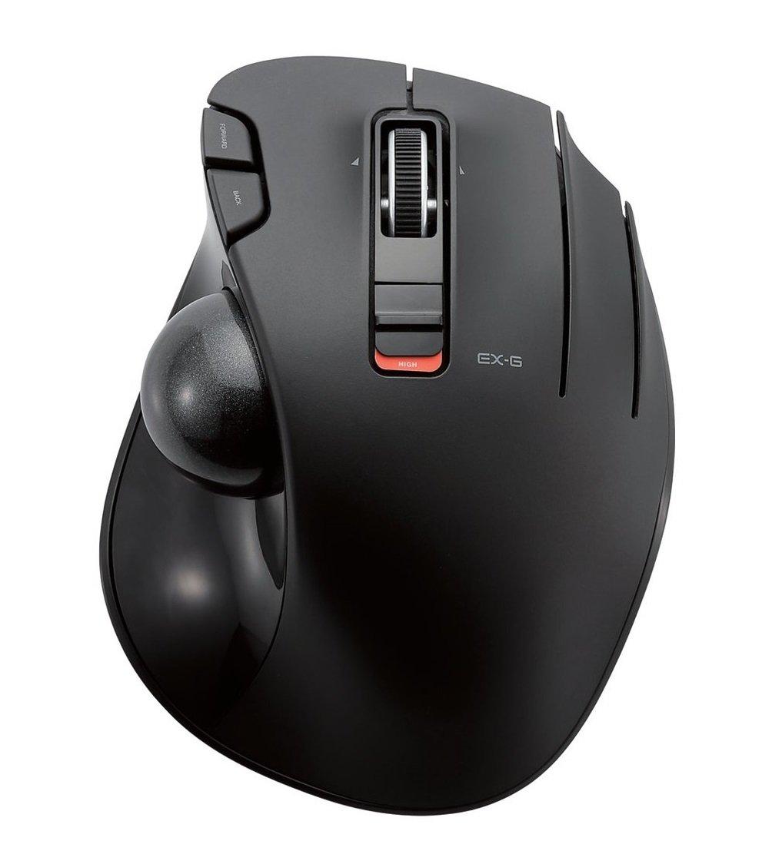 ELECOM M-XT4DRBK Kabellose Trackball Maus f/ür Linksh/änder EX-G Serie L Gr/ö/ße 2,4 GHz 6 Tasten schwarz schwarz Left-Handed