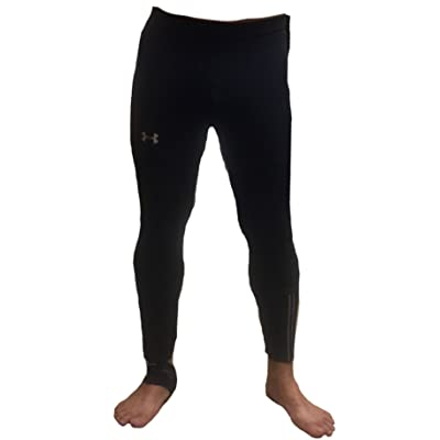 Under Armour Men's UA heatgear Run Tights Men's Running Leggings 1291334 Large black