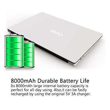 YEPO 15.6 Pulgadas portátil Z8350 Quad Core portátil 4GB RAM 64GB Mate Pantalla Bluetooth 4.0 1.3MP cámara Frontal portátil HD: Amazon.es: Informática