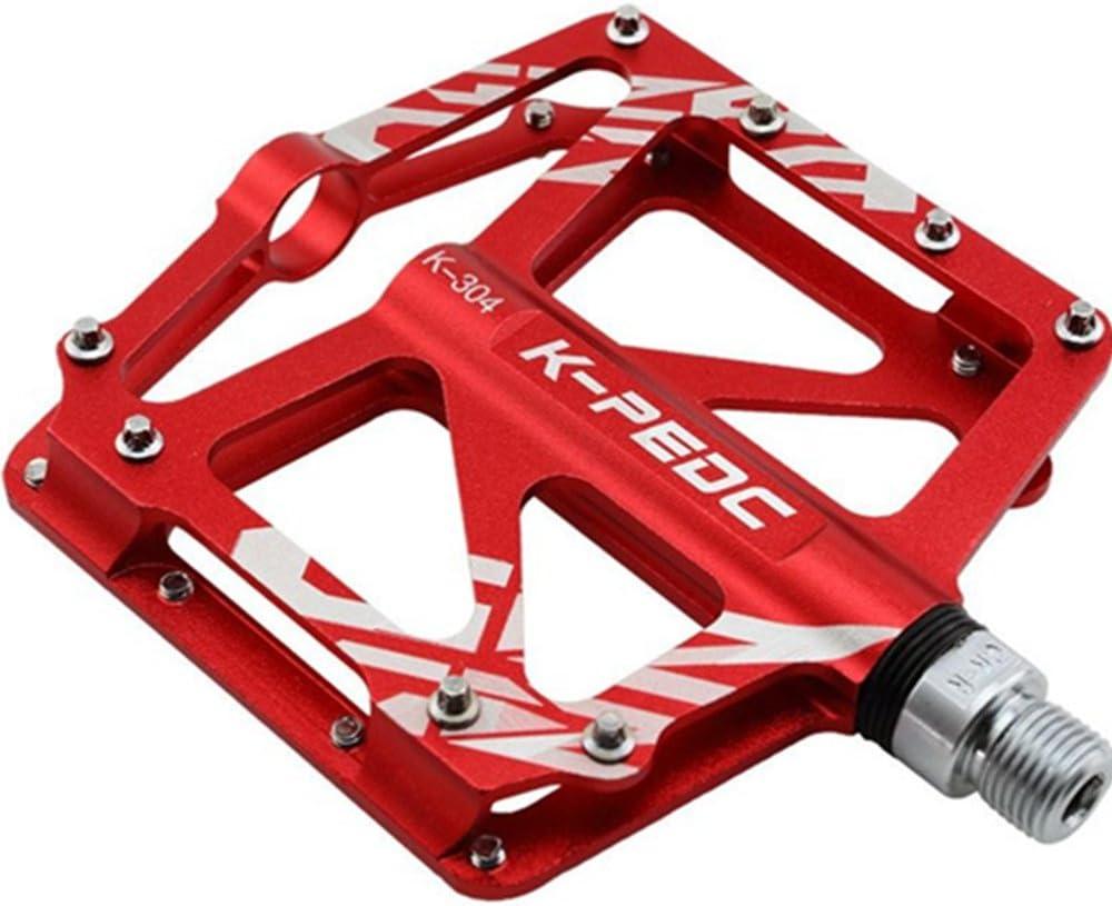 VXM Pedal para bicicleta/aleación de aluminio para bicicleta de montaña bicicleta de carretera pedales rodamientos sellados pedales BMX ciclismo ultraligero Pedal, rojo: Amazon.es: Deportes y aire libre