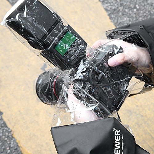 Neewer Professional Camera Protector Rain Cover for Canon Rebel T5i T4i T3i,EOS 1100D 1000D 700D 650D 600D,Nikon D7100 D7000 D5200 D5100 D5000,Pentax K-5II,K-50,K-30 DSLR Camera(Black)