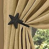 Park Designs Black Star Curtain Tie Back,3.75'' Star