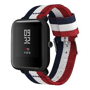HappyTop Huami Xiaomi Amazfit Bip Smart Watch Correa de Reloj de Pulsera Unisex de Nailon de