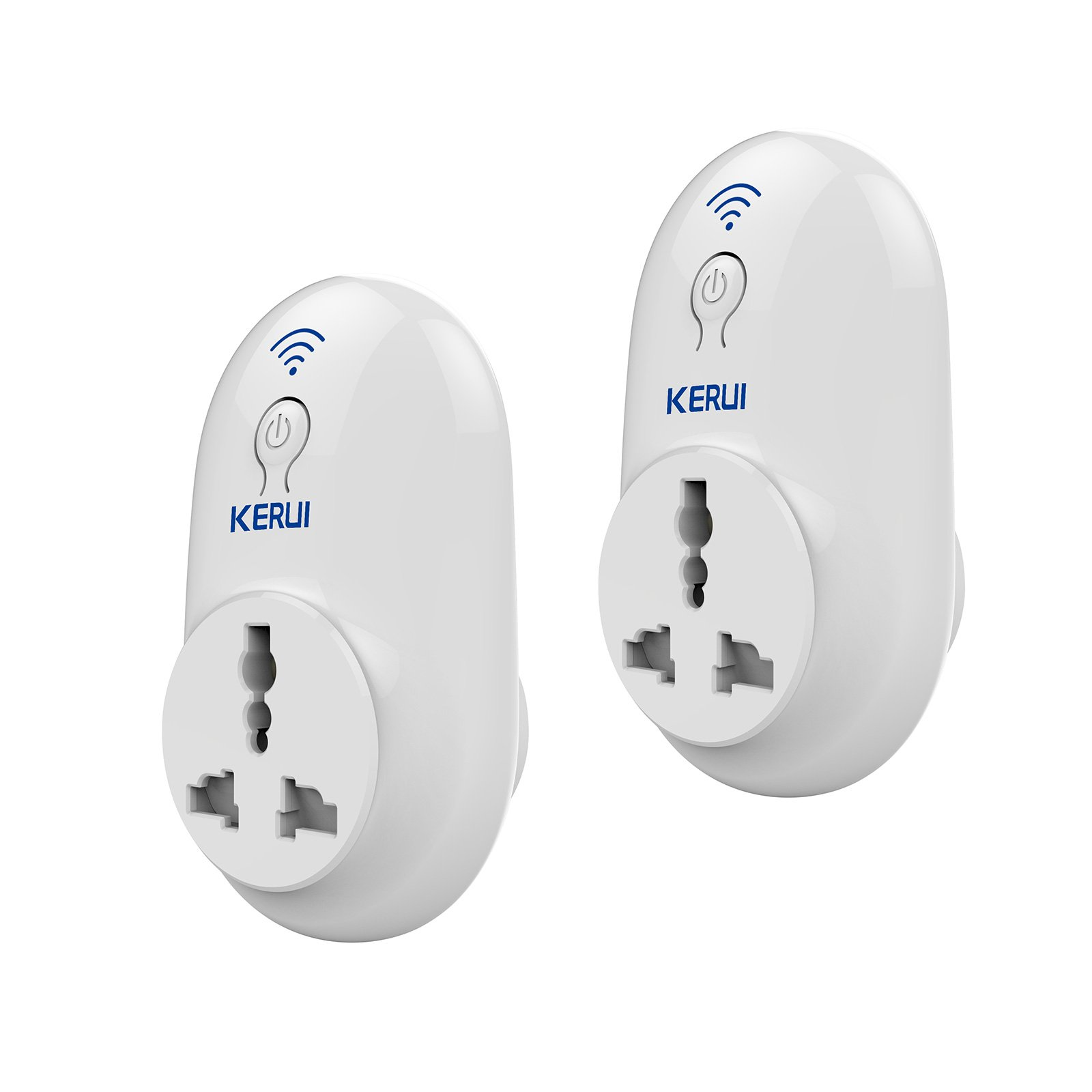 KERUI S72 Wireless WIFI Smart Plug -Timing Socket Outlet APP Remote Control Devices from Anywhere for Home/House Apartment,2 Pack by KERUI