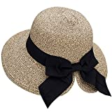 Verabella Floppy Hat Women's UPF 50+ Foldable/Packable Straw Sun Beach Hat,Mix