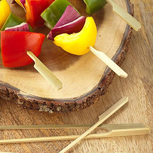 8-inch Bamboo Paddle Skewers: Perfect for Commercial and Backyard Grilling – Natural Color – 1000-CT – Biodegradable and Eco-Friendly – Restaurantware by Restaurantware (Image #2)