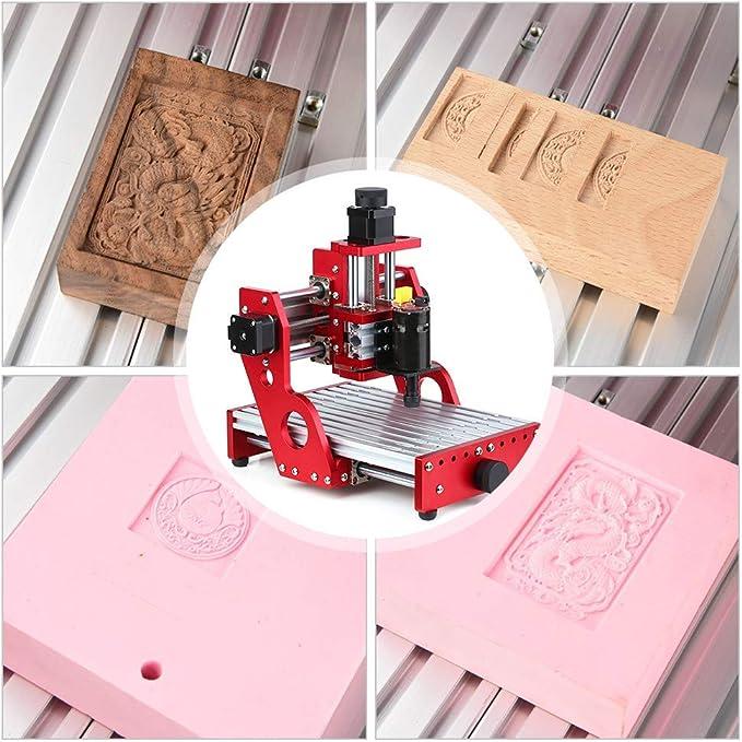 Vogvigo CNC 1419 máquina de corte de grabado de metal enrutador, mini máquina CNC Fresadora de bricolaje con todo el marco de metal para Grabado de metal suave Corte ...