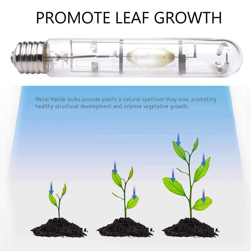 iGrowtek 400W MH Grow Light Bulb 400 Watt HID Grow Bulb CCT 6000K Metal Halide Grow Lamp for Indoor Plant