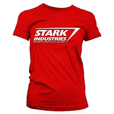 d078fe1e The Avengers Officially Licensed Stark Industries Logo Women T-Shirt (Red),  Small
