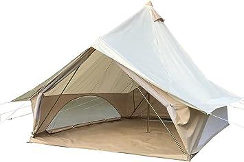 safari Bell tent Impermeable tienda de campaña 3 x 4 m Pro con cremallera en suelo tienda de campaña (Tienda de oxford (blanco)): Amazon.es: Deportes y aire libre