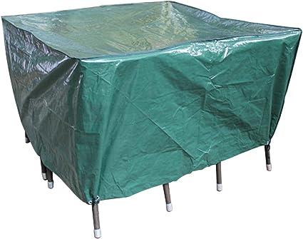 Amazon De Laxllent Schutzhulle Fur Tisch Hulle Gartenmobel Abdeckung Wasserdicht Atmungsaktiv Abdeckhaube Fur Stuhle Sofa 135x135x70cm Pe Grun