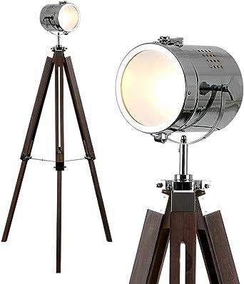 MiniSun - Lámpara de pie vintage Estudio de cine - forma de trípode y foco ajustable: Amazon.es: Iluminación
