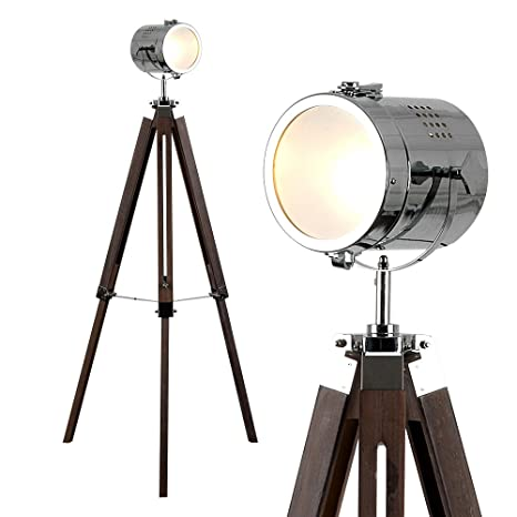 MiniSun - Lámpara de pie vintage Estudio de cine - forma de trípode y foco ajustable