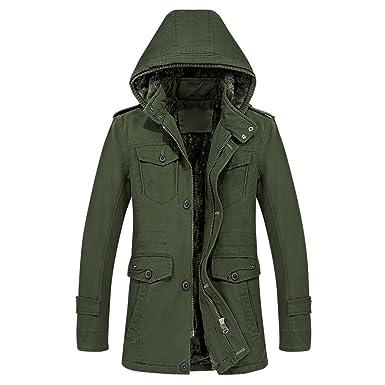 iShine abrigos hombre invierno chaqueta hombre vestir con 3 ...