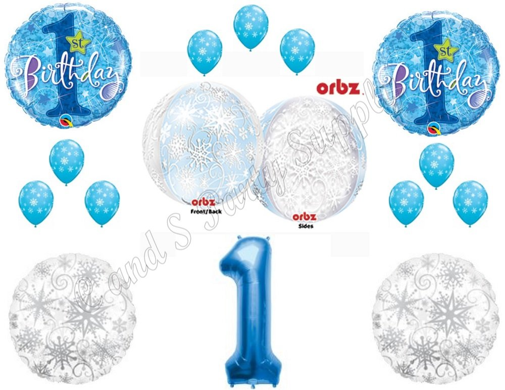 "Fun To Be One 18/"" Boy Blue Safari Foil Mylar Birthday Party Balloon Decorations"