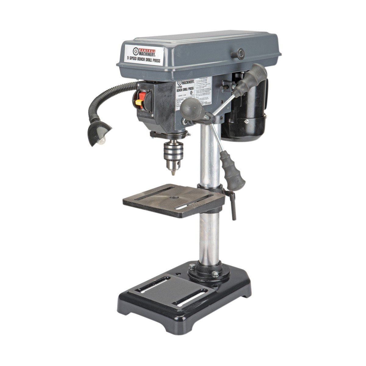 8 in. Bench Mount Drill Press, 5 Speed by Central Machinery
