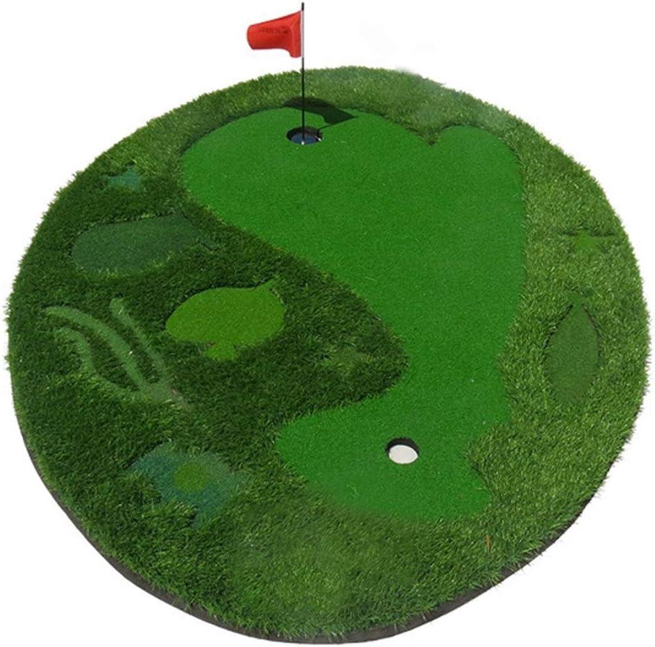ゴルフパッティンググリーンマット 10代の若者たちトレーニング屋内/屋外ゴルフマット環境ゴルフ人工緑取り外し可能な青少年屋内ゴルフパッティング練習で1旗6ボール (色 : 緑, サイズ : 1.5*2M) 緑 1.5*2M